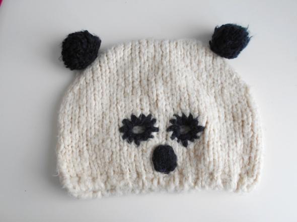 River Island czapka zimowa panda