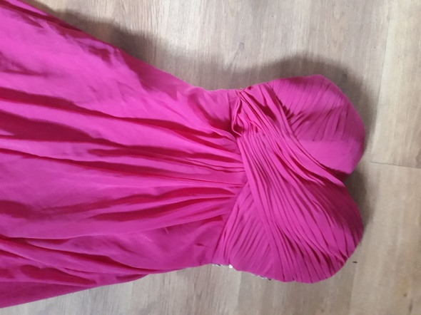 Ciemno różowa fuksja sukienka S i M