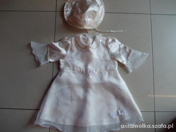 Komplecik dla dziewczynki chrzcinyroczek 74 cm