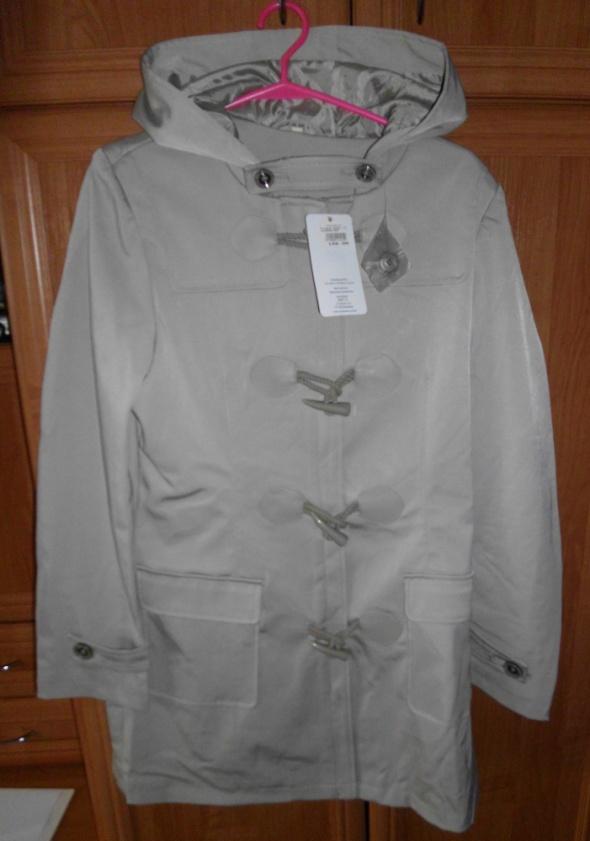 Nowy beżowy płaszcz trencz damski rozm L