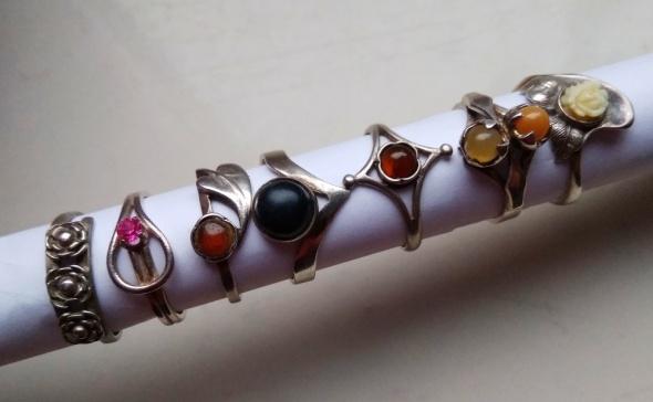 Stare srebrne pierścionki Warmet