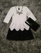Sukienka S 36 święta sylwester półmetek...
