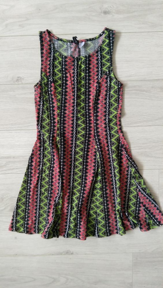 Sukienka H&M elastyczna wzory S grunge punk aztec goth