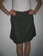 Zielona lniana spódnica H&M...
