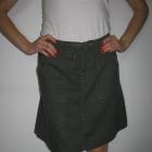 Zielona lniana spódnica H&M