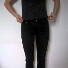 Czarne proste spodnie Orsay