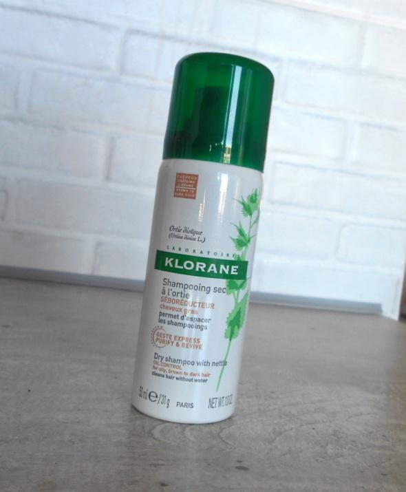 Klorane suchy szampon mleczko z owsa 50ml do włosów ciemnych