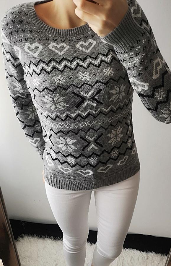 Terranova Sweter damski szary nowy M