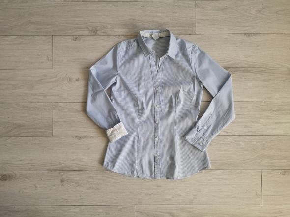 Bluzka koszula H&M paseczki biełe mankiety S M