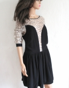 Elegancka koronkowa sukienka r 44...