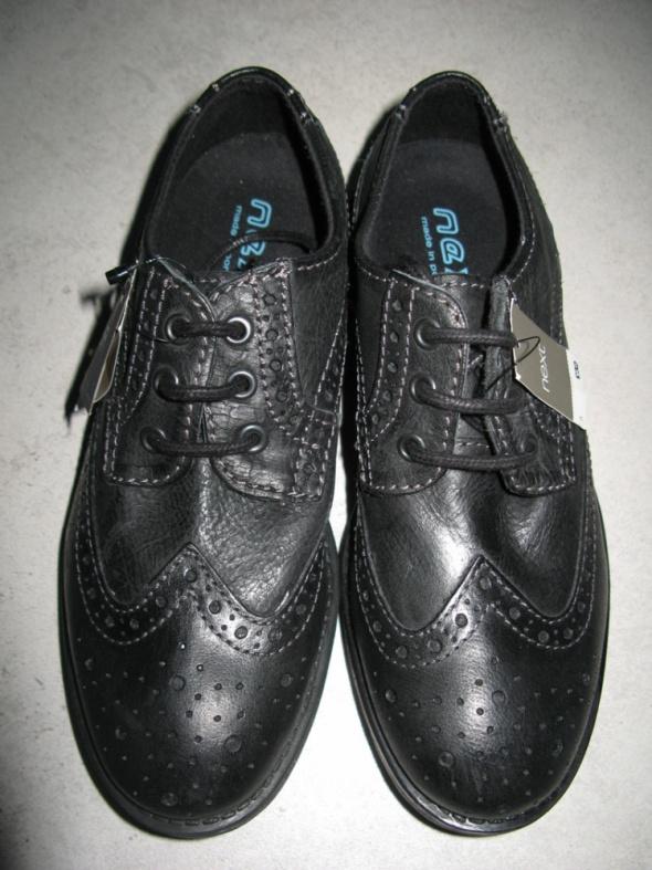 NEXT eleganckie buty dla chłopca czarne ze skóry roz 36