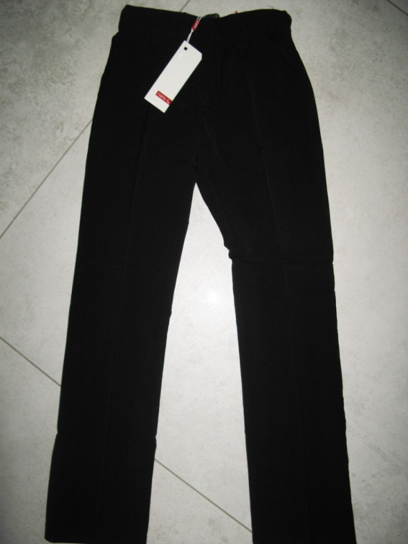 NAME IT czarne eleganckie spodnie chłopięce roz 134