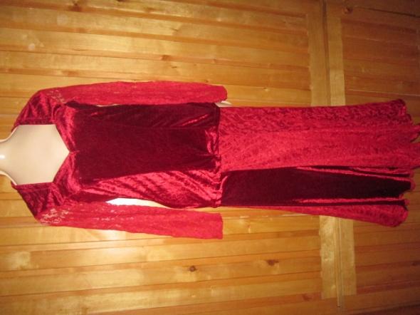 Komplet bluzka spódnica rozmiar XS koronka welur