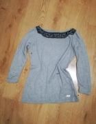 Szara sweterkowa bluzka Mohito...
