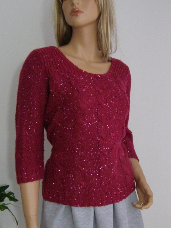 sweter cekiny święta XL XXL błyszczący burgundowy