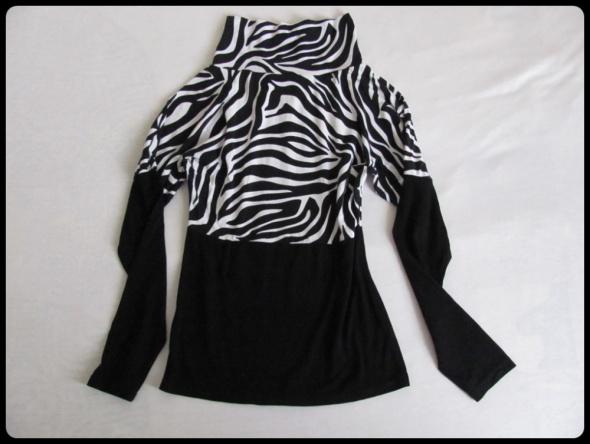 Bluzka z golfem czarno biała rozmiar 38 M