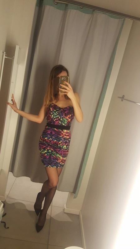 Nowa wieczorowa sukienka lipsy multikolor s