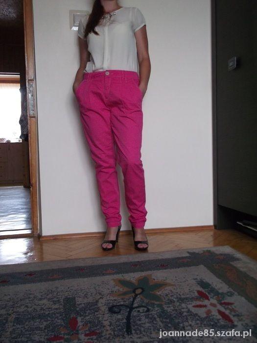 spodnie różowe Bershka