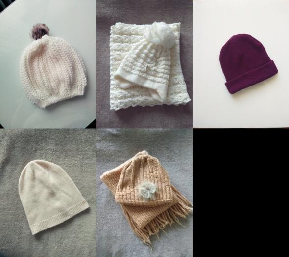 zestaw czapki szaliki
