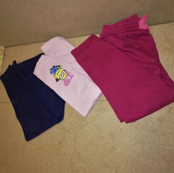 Legginsy dresy dziewczęce 110 116 cm 5 6 lat ZESTAW 3 sztuki