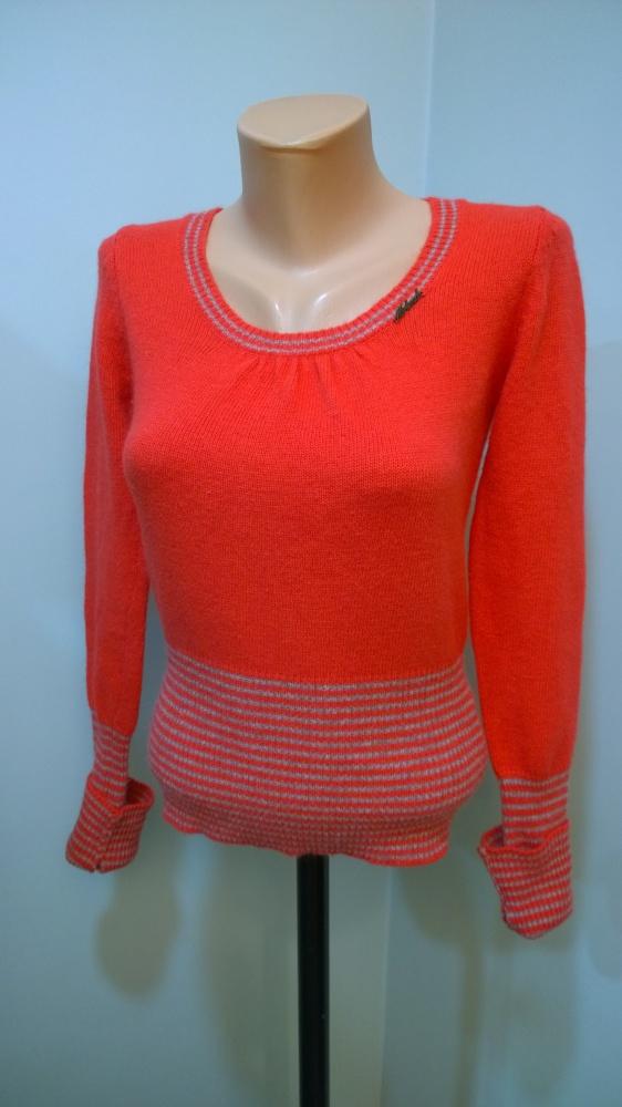 sweter z angorką mitenki S