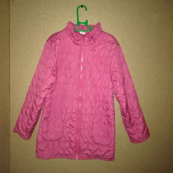 Różowa pikowana kurtka jesienno wiosenna 122 cm 7 8 lat