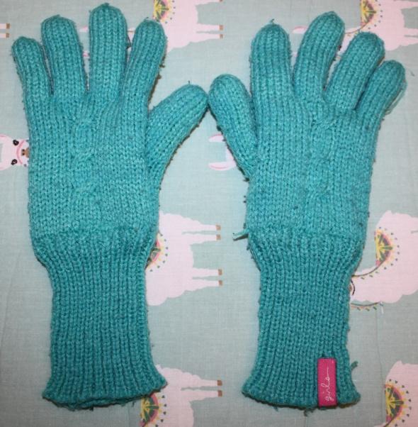 Rękawiczki zimowe zielone młodzieżowe darmowa wysyłka