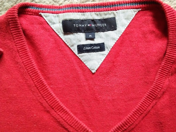 Tommy Hilfiger sweter czerwony M