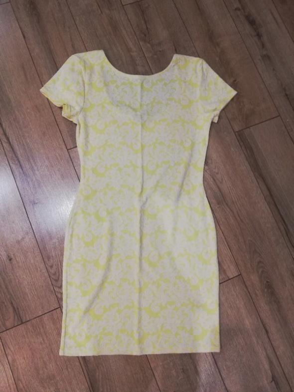 Sukienka żółto biała M