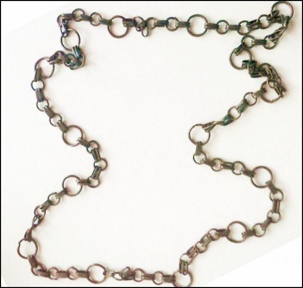 Gruby długi łańcuch stare złoto
