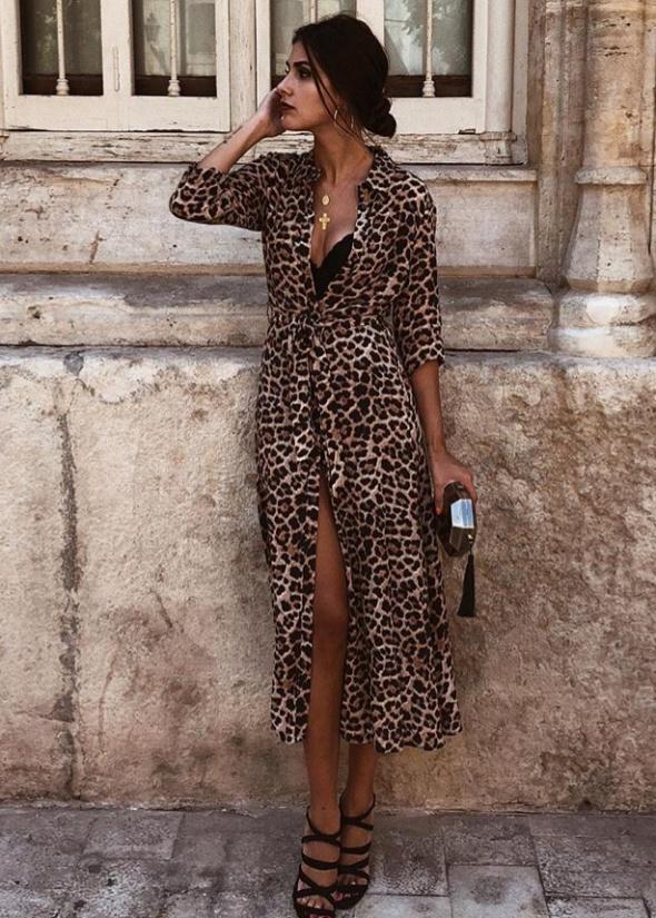 sukienka maxi Zara xs 34 blog panterka