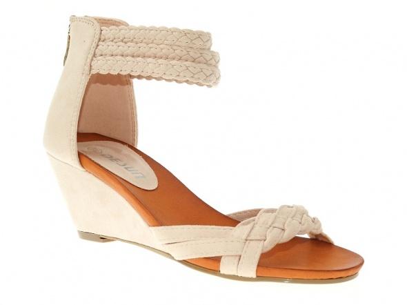 nowe beżowe sandały 38