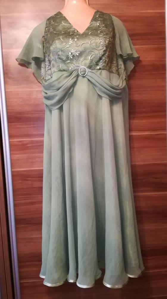 e01a311aee Suknia sukienka 48 koronka haft zwiewna wesele bal w Suknie i ...