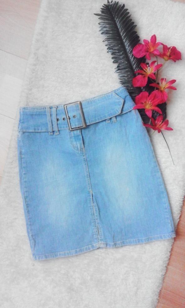 Spódnice spódniczka jeans klamra