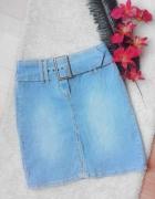 spódniczka jeans klamra...
