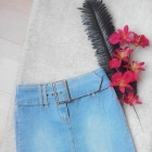 spódniczka jeans klamra
