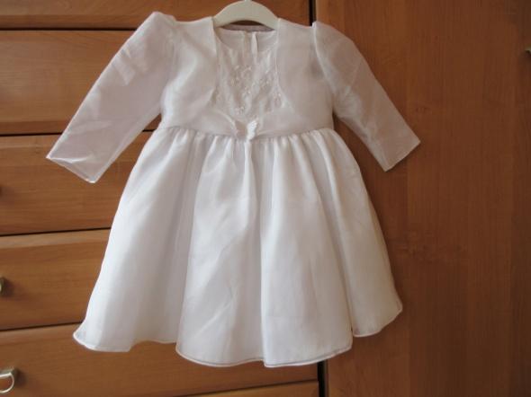 Biała sukienka chrzest roczek okazje roz 12 do 18 mies