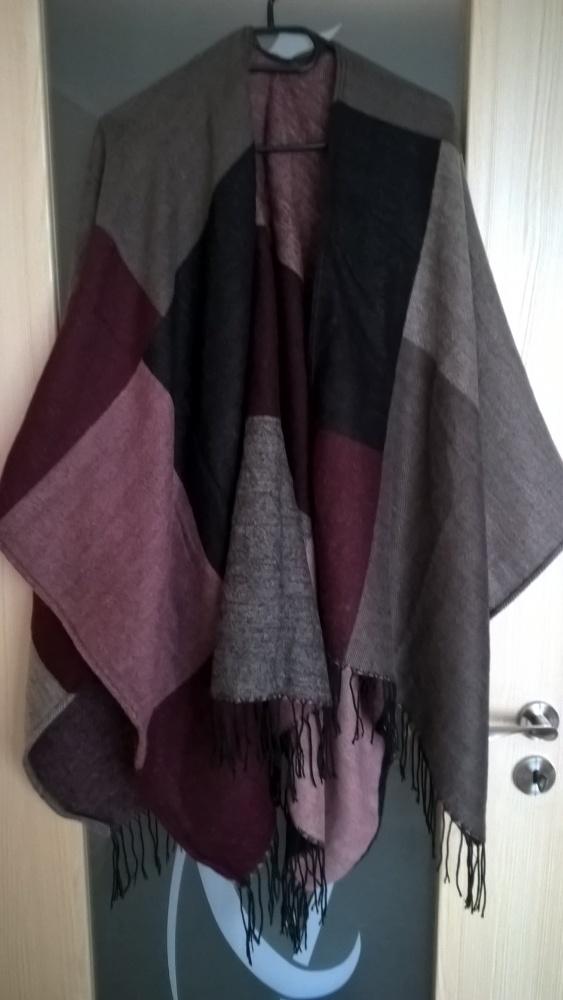 Ponczo chusta duży szal