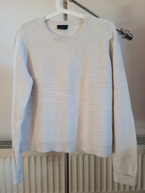 TOPSHOP sweter beżowy basic...