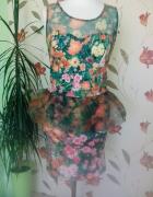 sukienka w łączkę...