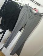 spodnie szare rurki eleganckie biodrówki Tally weijl r S...