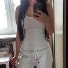 Dresy białe Redial spodnie dresowe wstawki lampasy troczki ortalion ortalionowe