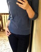 Bluzeczka sweterek szary grafitowy niebieski fioletowy Marks & ...