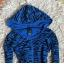 Niebieska bluza zebra Troll kobaltowa chabrowa granatowa zeberka zebra kobalt