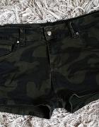 Nowe spodenki szorty moro khaki militarne cyrkonie