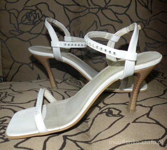 Hiszpańskie sandałki 38 na ślub i nie tylko
