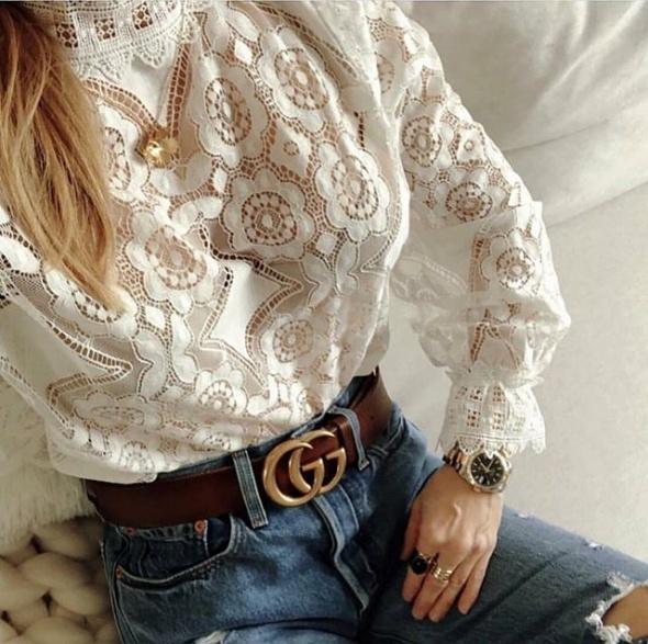 Bluzka koronkowa Zara