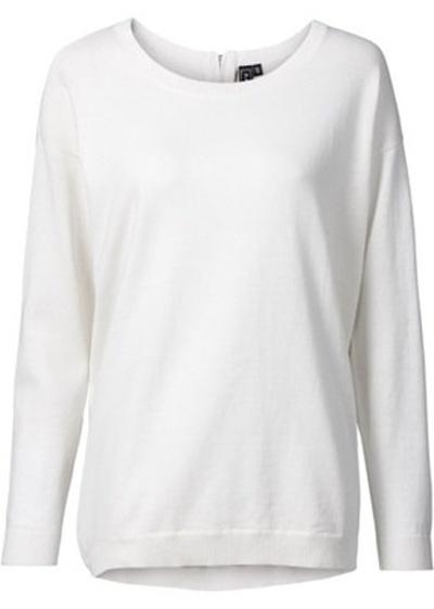 Sweter klasyczny Bonprix 44 46 oversize ecri ecru XXL...