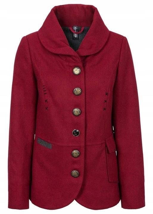 Kurtka krótki płaszcz bordowa...