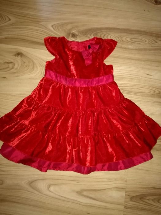 Sukienka aksamitna czerwona